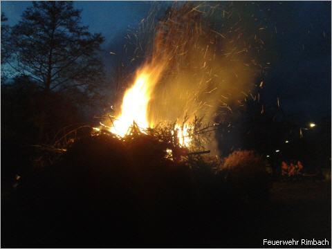 Fastnachtsfeuer in Zotzenbach
